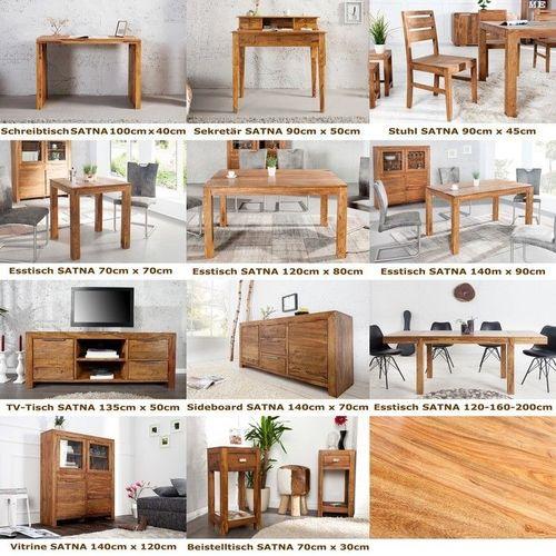 Sekretär & Schreibtisch SATNA Sheesham massiv Holz gewachst 90cm x 50cm - 4