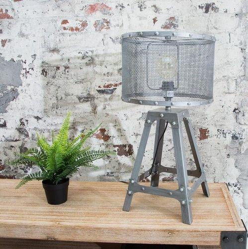 Tischlampe ROBOT Grau aus Metall 60cm Höhe im Industriedesign - 1