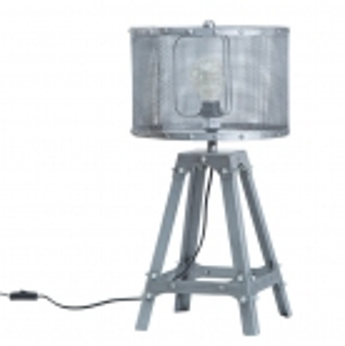 Tischlampe ROBOT Grau aus Metall 60cm Höhe im Industriedesign - 2