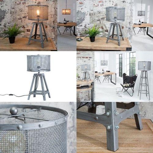 Tischlampe ROBOT Grau aus Metall 60cm Höhe im Industriedesign - 3