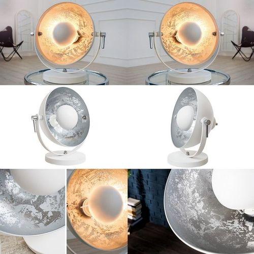 Tischlampe SPOT Weiß-Silber 40cm Höhe - 3