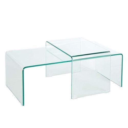2er Set Glas-Couchtische MAYFAIR transparent aus einem Guss 60/100cm - 4