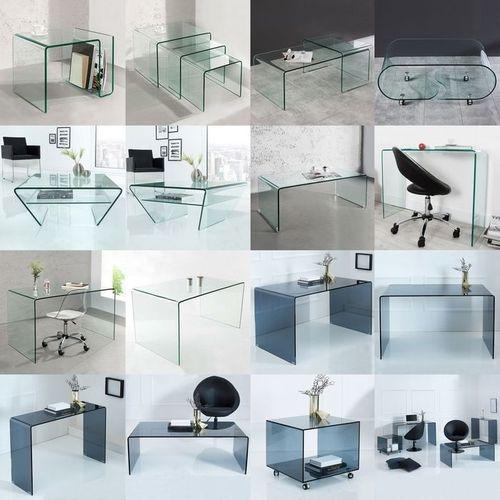 2er Set Glas-Couchtische MAYFAIR transparent aus einem Guss 60/100cm - 6