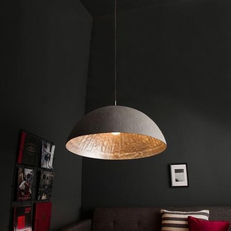 XL Hängelampe BOL Beton-Silber 70cm Ø - 1