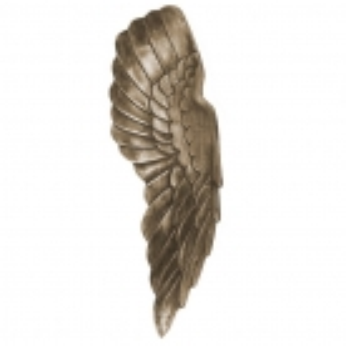 XL Wanddeko Flügelpaar WINGS Bronze-Silber Antik aus poliertem Aluminium 65cm Höhe - 3