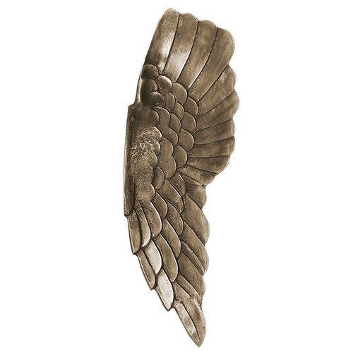 XL Wanddeko Flügelpaar WINGS Bronze-Silber Antik aus poliertem Aluminium 65cm Höhe - 4