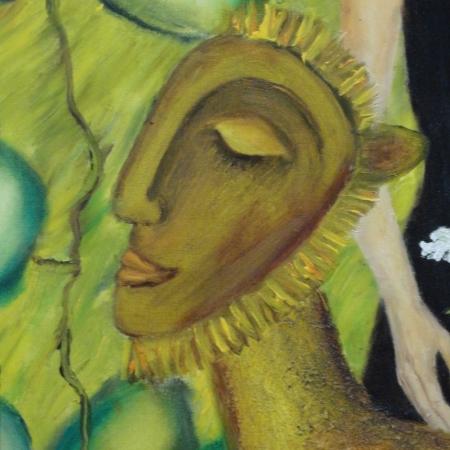 Original und Unikat: Handgemaltes Ölgemälde ÄGYPTISCHE PHANTASIE 125 x 80cm - 2