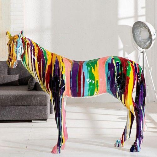 XXL Deko Skulptur Pop Art Pferd STALLION Bunt aus Fiberglas handbemalt 140cm x 160cm - 2
