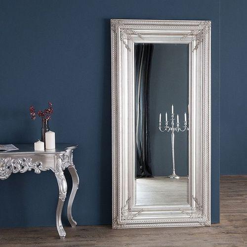 XXL Romantischer Wandspiegel VERONIQUE Silber Antik in Renaissance-Design 180cm x 85cm | Vertikal oder horizontal aufhängbar! - 1