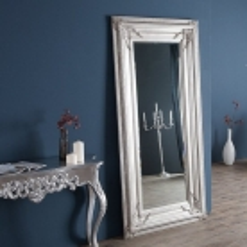XXL Romantischer Wandspiegel VERONIQUE Silber Antik in Renaissance-Design 180cm x 85cm | Vertikal oder horizontal aufhängbar! - 2