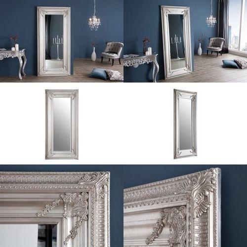 XXL Romantischer Wandspiegel VERONIQUE Silber Antik in Renaissance-Design 180cm x 85cm | Vertikal oder horizontal aufhängbar! - 3