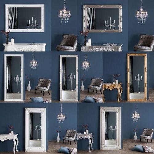 XXL Romantischer Wandspiegel VERONIQUE Silber Antik in Renaissance-Design 180cm x 85cm - 4