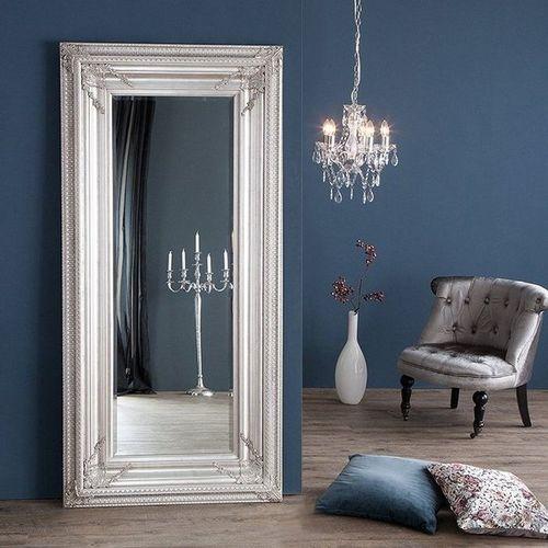 XXL Romantischer Wandspiegel VERONIQUE Silber Antik in Renaissance-Design 180cm x 85cm | Vertikal oder horizontal aufhängbar! - 6