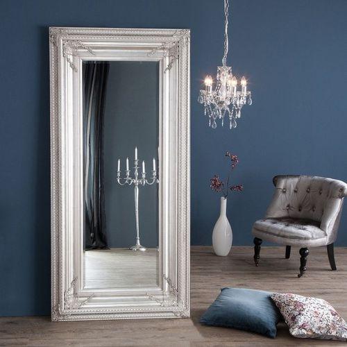 XXL Romantischer Wandspiegel VERONIQUE Silber Antik in Renaissance-Design 180cm x 85cm - 7