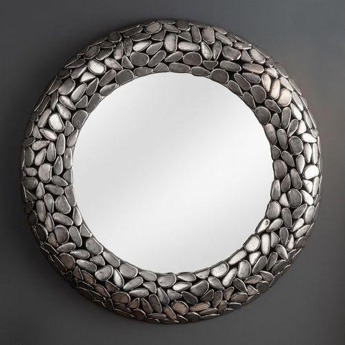 Wandspiegel RAVENNA Silber aus Metallplättchen im Mosaik-Design handgefertigt 82cm Ø - 2