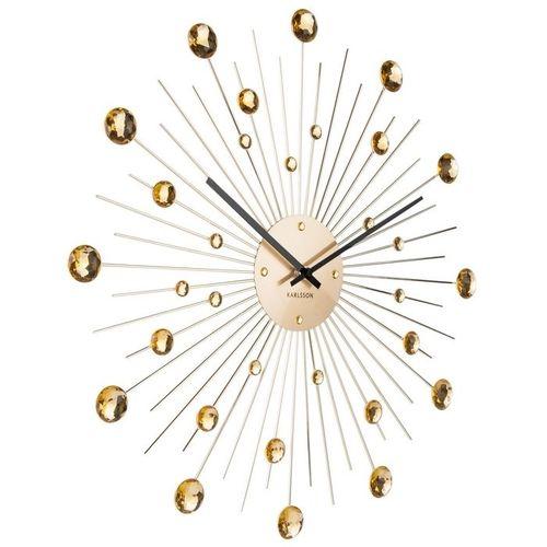 Wanduhr BALL Gold mit Kristallkugeln 50cm Ø - 1