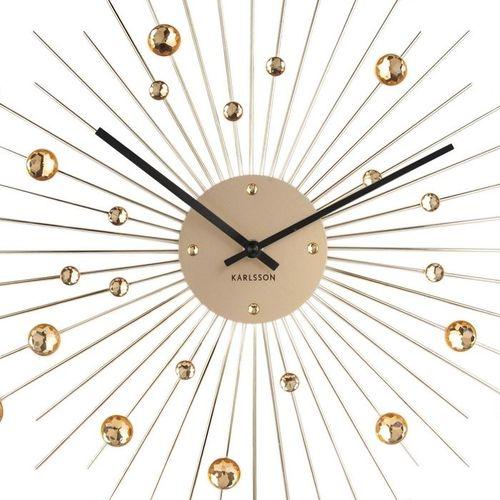 Wanduhr BALL Gold mit Kristallkugeln 50cm Ø - 2