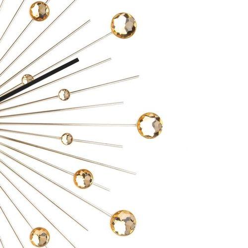 Wanduhr BALL Gold mit Kristallkugeln 50cm Ø - 3