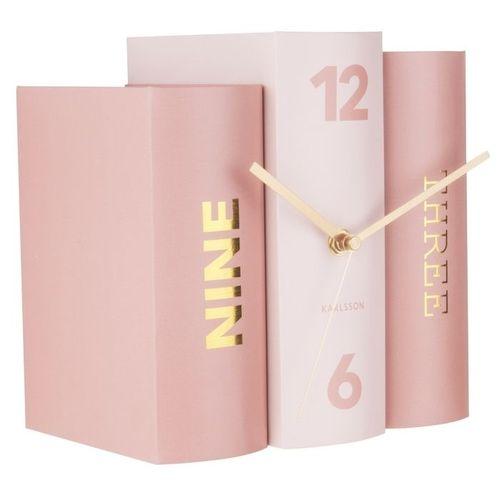 Standuhr BOOK Pastell Rosa aus Papier 20cm - 1