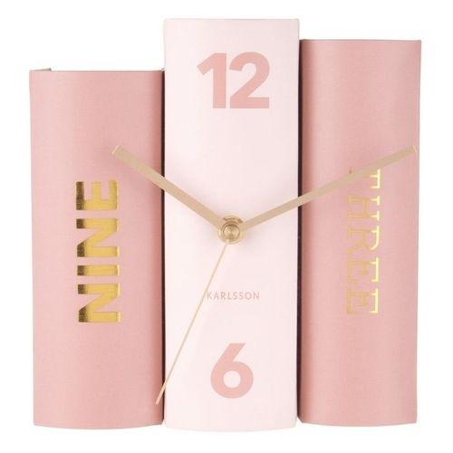 Standuhr BOOK Pastell Rosa aus Papier 20cm - 2