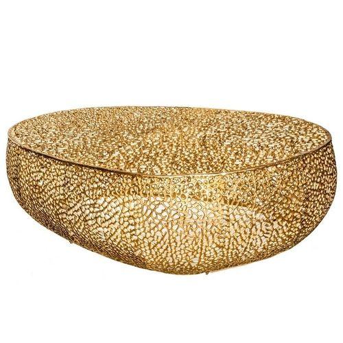 Couchtisch NUBE Gold aus Aluminium im Aststruktur-Design handgefertigt 122cm - 3