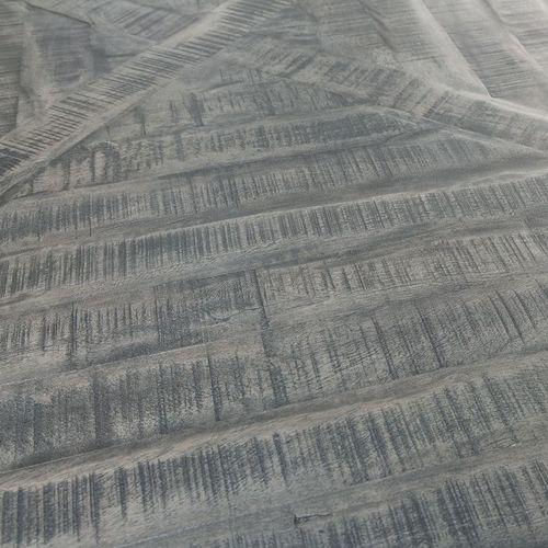 Esstisch SITA Grau aus massivem Mangoholz Fischgratoptik Metallgestell Schwarz Handarbeit 160cm - 4