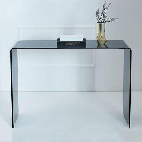 Glas-Schreibtisch MAYFAIR Anthrazit transparent aus einem Guss 100cm x 35cm - 2