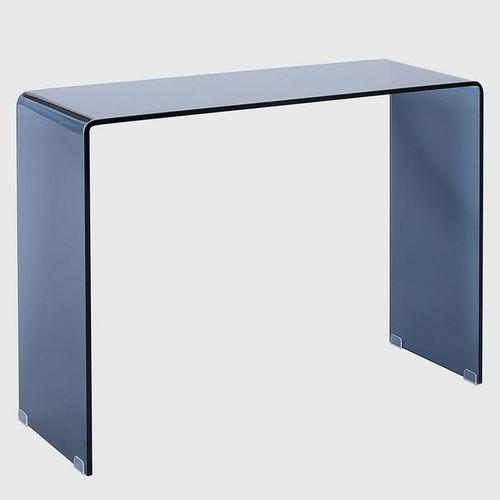 Glas-Schreibtisch MAYFAIR Anthrazit transparent aus einem Guss 100cm x 35cm - 4