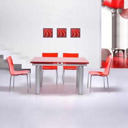 Stuhl LEO Rot Hochglanz - 1