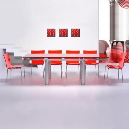 Stuhl LEO Rot Hochglanz - 2