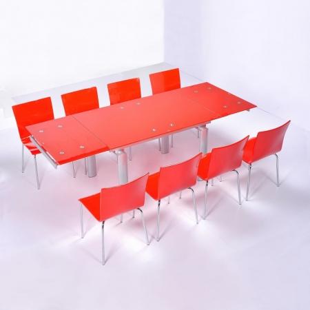 Stuhl LEO Rot Hochglanz - 3