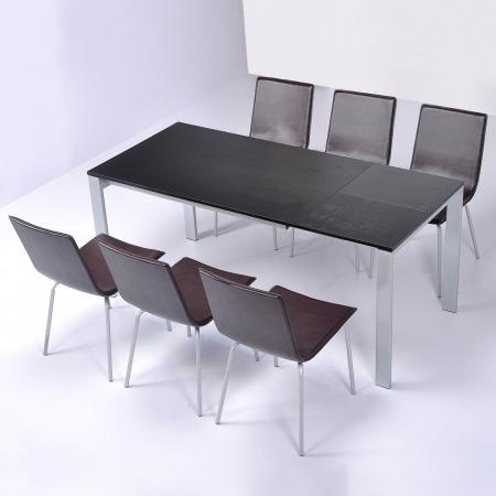Stuhl VIENA Braun aus Kunstleder - 1