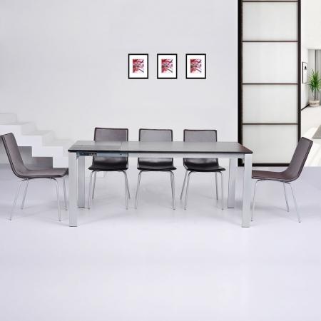 Stuhl VIENA Braun aus Kunstleder - 4