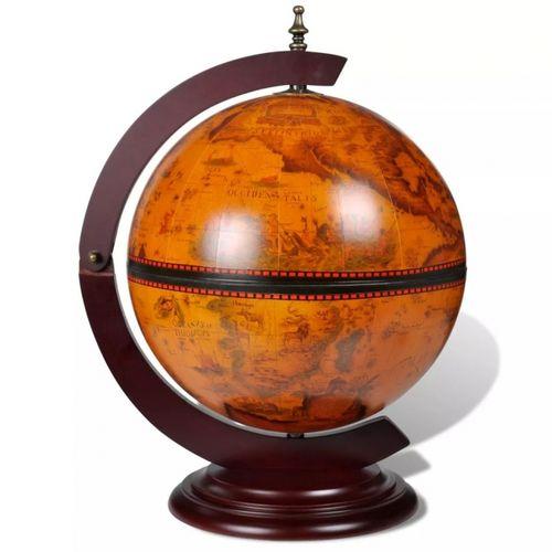 Nautische Bar MARCO POLO mit Globus und Motiven von Seekarten aus dem 16. Jahrhundert 48cm Höhe - 3