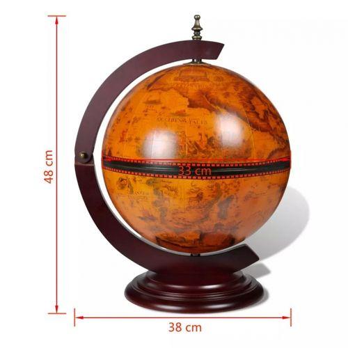 Nautische Bar MARCO POLO mit Globus und Motiven von Seekarten aus dem 16. Jahrhundert 48cm Höhe - 5