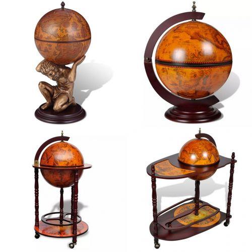 Nautische Bar MARCO POLO mit Globus und Motiven von Seekarten aus dem 16. Jahrhundert 48cm Höhe - 6