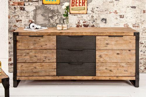 Sideboard Kommode MANUFACTURE Akazie gekälkt 180cm - 1
