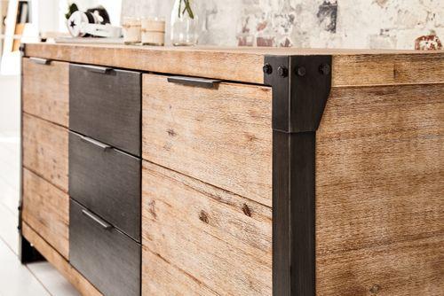 Sideboard Kommode MANUFACTURE Akazie gekälkt 180cm - 3