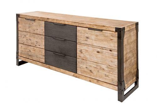 Sideboard Kommode MANUFACTURE Akazie gekälkt 180cm - 5