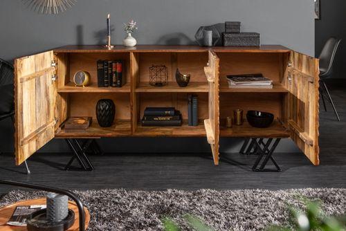 Sideboard MYANMAR Braun Mango Massivholz 160cm - 1