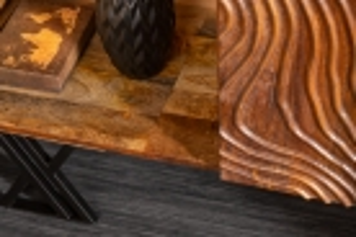 Sideboard MYANMAR Braun Mango Massivholz 160cm - 3