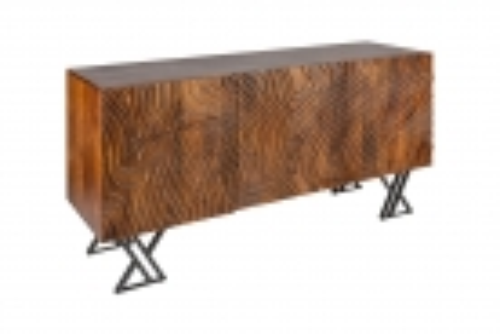 Sideboard MYANMAR Braun Mango Massivholz 160cm - 4