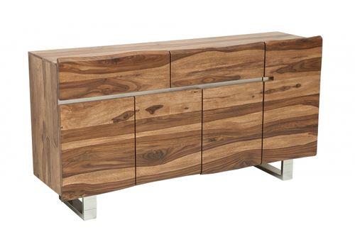 Sideboard AMBA Sheesham Massivholz mit naturbelassenen Kanten 170cm - 5