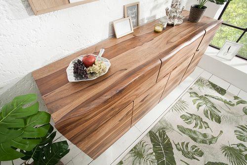 Sideboard AMBA Sheesham Massivholz mit naturbelassenen Kanten 170cm - 7