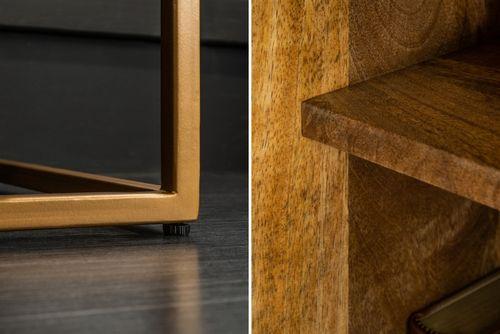 Sideboard UDAIPUR Mango massiv Schiebetüren mit Halbedelsteinen 160cm - 5