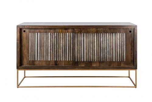 Sideboard UDAIPUR Mango massiv Schiebetüren mit Halbedelsteinen 160cm - 6
