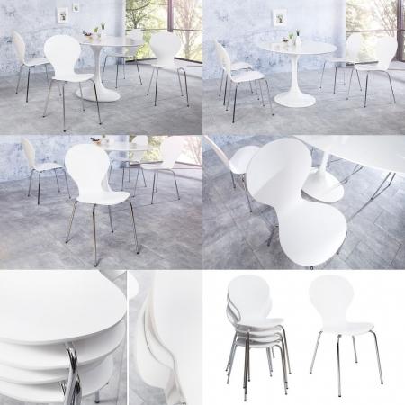 Stuhl JACOBSEN Weiß - 3