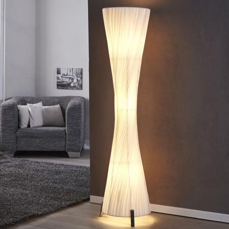 XL Stehlampe LOOP Weiß Kegelform Rund 160cm Höhe - 1