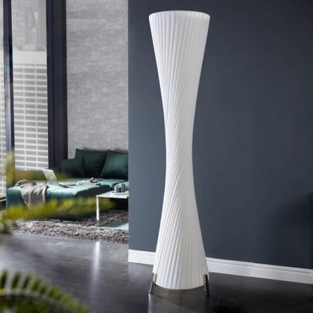 XL Stehlampe LOOP Weiß Kegelform Rund 160cm Höhe - 2