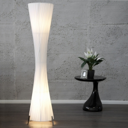 XXL Stehlampe LOOP Weiß Kegelform Rund 200cm Höhe - 2